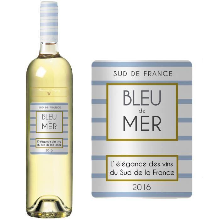 bleu de mer vin de pays d 39 oc 2016 blanc achat vente vin blanc bleu de mer 2016 blanc. Black Bedroom Furniture Sets. Home Design Ideas
