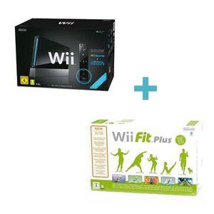 CONSOLE WII Wii NOIRE SPORTS RESORT+Wii FIT PLUS + BALANCE
