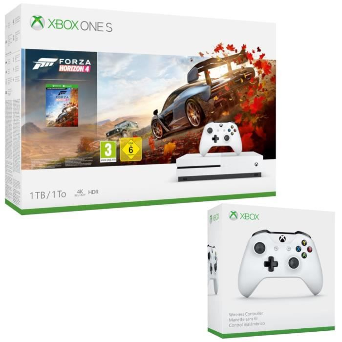 CONSOLE XBOX ONE Xbox One S 1 To Forza Horizon 4 + 2e manette