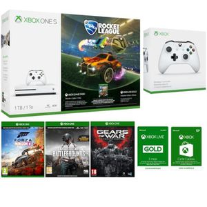 CONSOLE XBOX ONE Xbox One S 1 To Rocket League + 2e manette + Forza