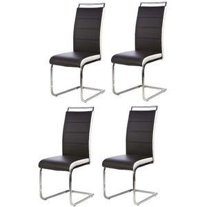 Chaises noir achat vente chaises noir pas cher cdiscount for Une chaise noire