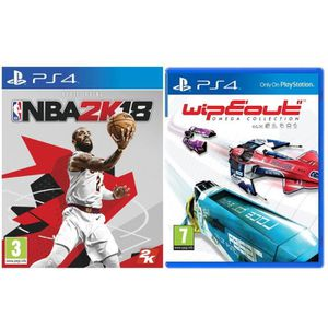 JEU PS4 NBA 2K18 + WipEout Omega Collection