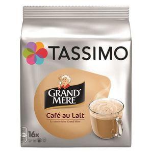 CAFÉ - CHICORÉE TASSIMO Café au lait Grand'mère - 5 paquets de 16
