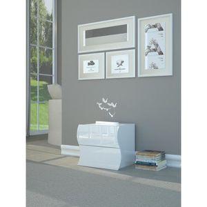 CHEVET ONDA Chevet contemporain - Laqué blanc brillant -