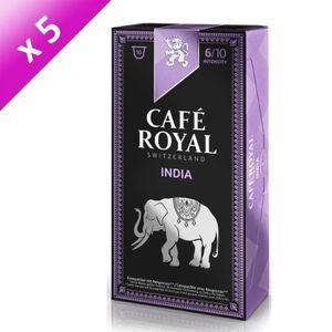 CAFÉ - CHICORÉE Lot de 50 capsules Café Royal Single Origin India