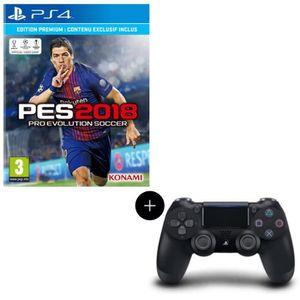 JEU PS4 Pack PES 2018 Premium D1 Edition PS4 + Manette PS4