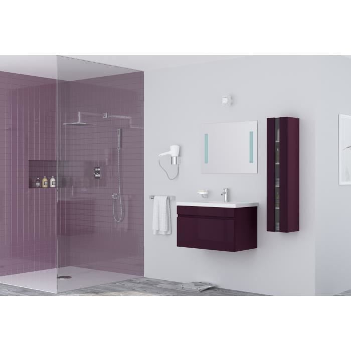 Salle de bain compl te violet achat vente salle de - Meuble salle de bain violet ...