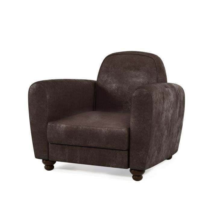 finlandek fauteuil club ikainen en tissu marron vintage. Black Bedroom Furniture Sets. Home Design Ideas