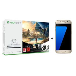 CONSOLE XBOX ONE Samsung Galaxy S7 Or + Xbox One S 1 To Assassin's