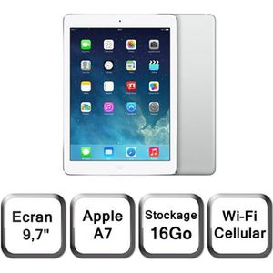 TABLETTE TACTILE Apple iPad Air Wi-Fi Cellular 16Go Argent