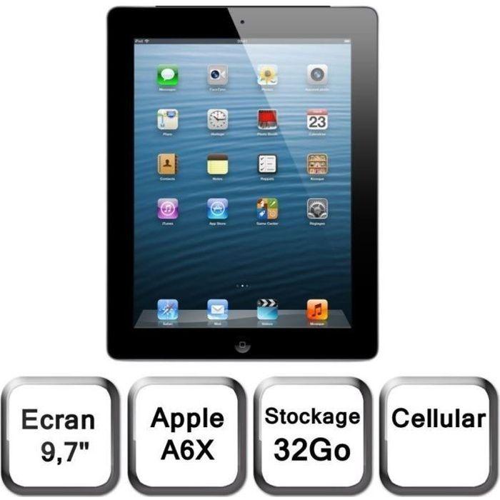 TABLETTE TACTILE Apple iPad écran Retina Wi-Fi+Cellular 32Go Noir