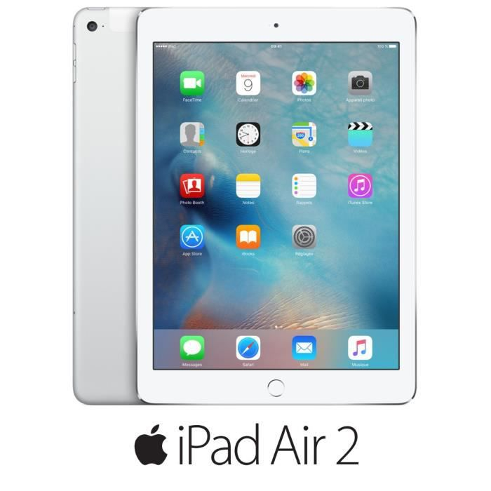 ipad air 2 64go wifi 4g argent prix pas cher soldes. Black Bedroom Furniture Sets. Home Design Ideas
