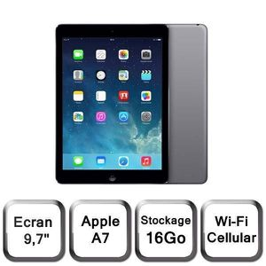 TABLETTE TACTILE iPad Air Cellular Wi-Fi Gris sidéral 16Go (MD791NF