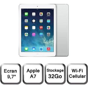 TABLETTE TACTILE iPad Air Cellular Wi-Fi Argent 32Go (MD795NF/B)