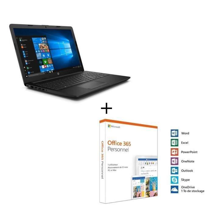 """ORDINATEUR PORTABLE HP PC Portable 15-da0087nf - 15,6"""" HD - Core i3-70"""