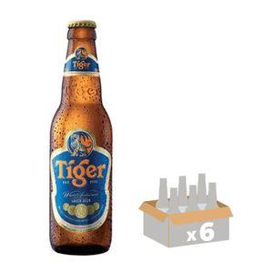 BIÈRE TIGER Lot de 6 Bières blondes 0,33L