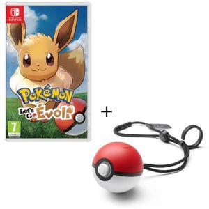 SORTIE JEU NINTENDO SWITCH Pack Jeu Pokemon Let's Go Evoli Switch + Poke Ball