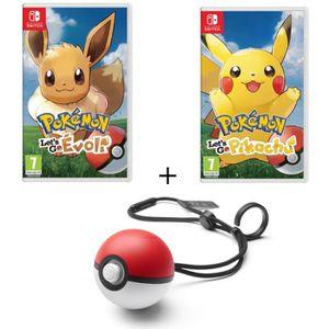 SORTIE JEU NINTENDO SWITCH Pack 2 jeux Pokemon Let's Go Switch + Poke Ball Pl