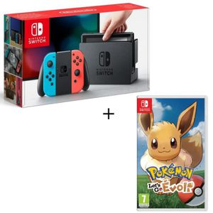 CONSOLE NINTENDO SWITCH Pack Nintendo Switch + Pokemon Let's Go Evoli