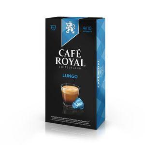 CAFÉ - CHICORÉE 10 capsules Cafe Royal Lungo Capsules compatibles