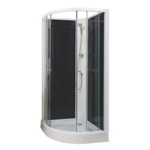 Cabine de douche 1 4 de cercle - Achat / Vente pas cher