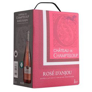 VIN ROSÉ CHÂTEAU DE CHAMPTELOUP Rosé D'Anjou - Rosé - 3L -