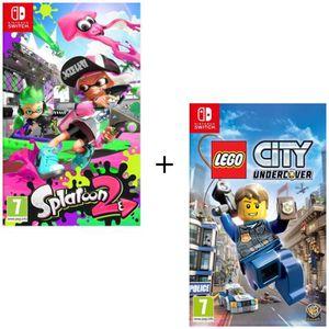 NINTENDO SWITCH Pack 2 jeux Switch: Splatoon 2 + Lego City Underc