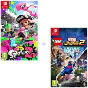 NINTENDO SWITCH Pack 2 jeux Switch : Splatoon 2 + Lego Marvel Supe