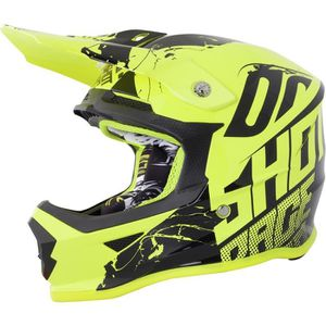 CASQUE MOTO SCOOTER SHOT Casque Cross Furious Venom Néon Jaune