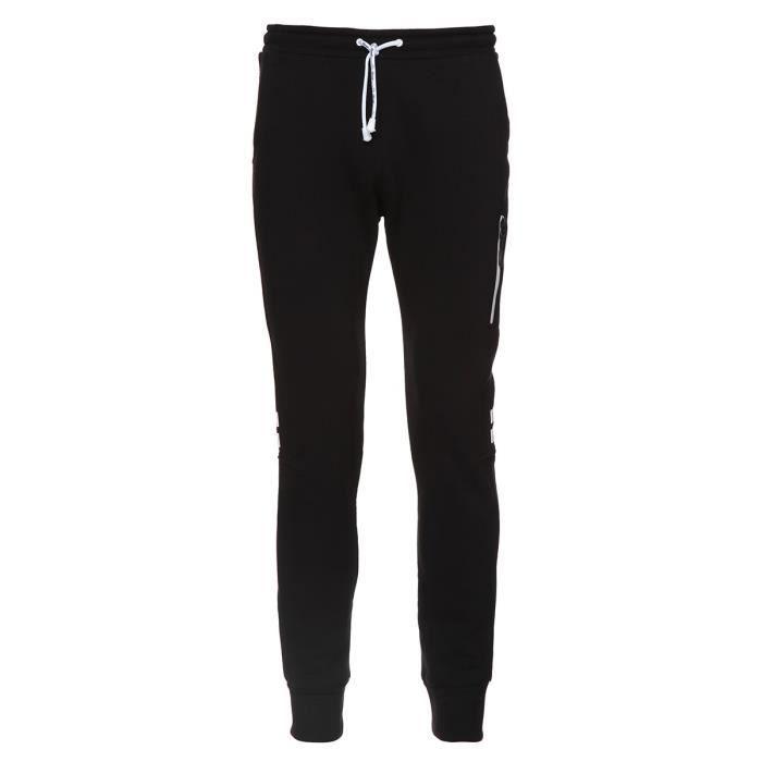 Pantalon molleton homme noir - Achat   Vente pas cher e47748af564