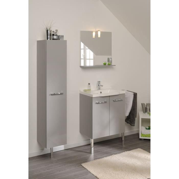 Mano ensemble salle de bain gris clair brillant avec for Soldes salle de bain
