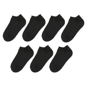CHAUSSETTES Lot de 7 Chaussettes Sneakers Basic Noir Femme