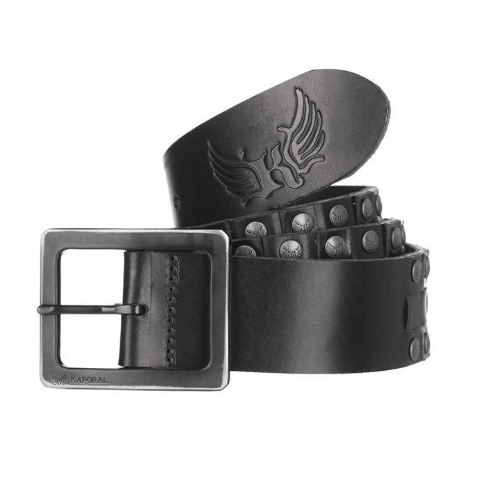 KAPORAL Ceinture Homme Noir - Achat   Vente ceinture et boucle ... eda1c58644e