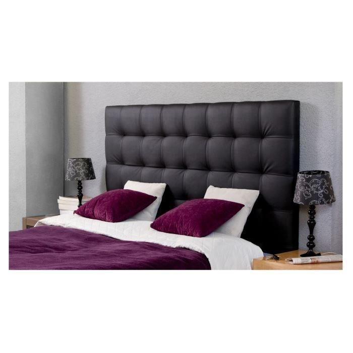 tete de lit capitonnee 140 achat vente pas cher. Black Bedroom Furniture Sets. Home Design Ideas
