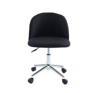 CHAISE DE BUREAU MACARON Chaise de bureau - Tissu noir - Classique