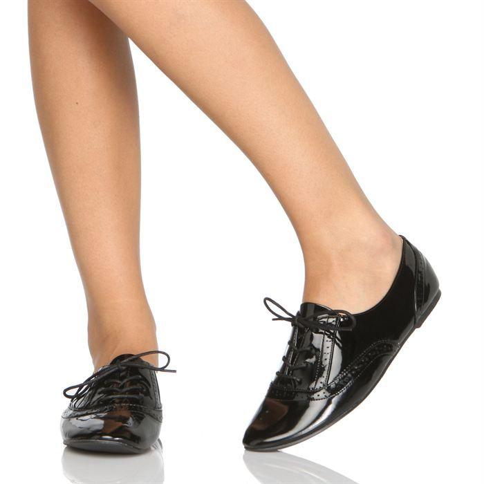SOFIA Chaussures Richelieu BC3136 Femme femme Noir, aspect verni ... 7a21dccbf469