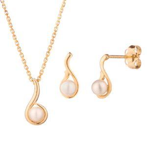 PARURE OR ECLAT Parure Perle d'Eau Douce Or Jaune 375° Ox