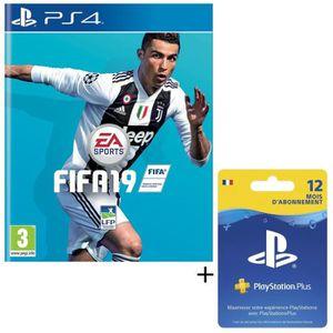 PACK ACCESSOIRE Pack FIFA 19 Jeu PS4 + Abonnement Playstation Plus