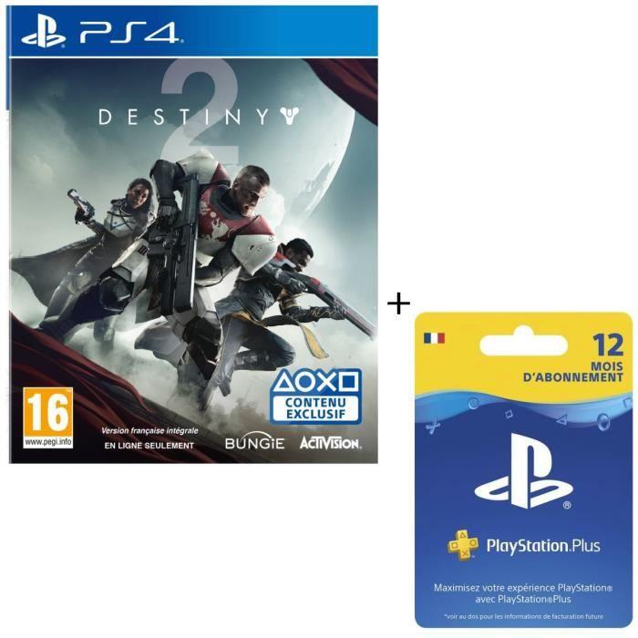 PACK ACCESSOIRE Destiny 2 + Abonnement PlayStation Plus 12 mois