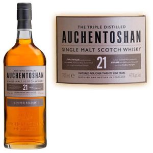WHISKY BOURBON SCOTCH Auchentoshan 21 ans 43° limited edition