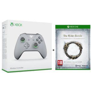 MANETTE JEUX VIDÉO Manette Xbox Sans Fil G/V + The Elder Scrolls  Tam
