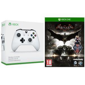 MANETTE JEUX VIDÉO Manette Xbox One sans fil blanche + le jeu Batman