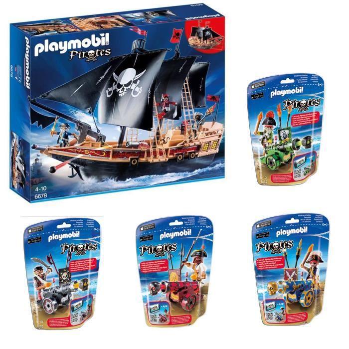 Playmobil pack pirates 2016 4 achat vente univers - Bateau corsaire playmobil ...