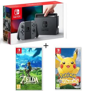 CONSOLE NINTENDO SWITCH Pack Nintendo Switch Grise + The Legend of Zelda +