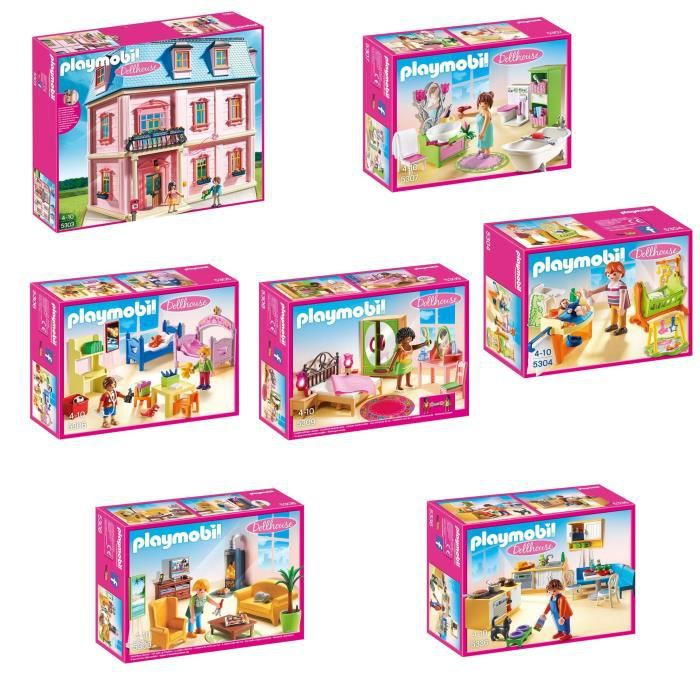 A LAISSER INACTIF - PLAYMOBIL Pack Maison Traditionnelle complet ...