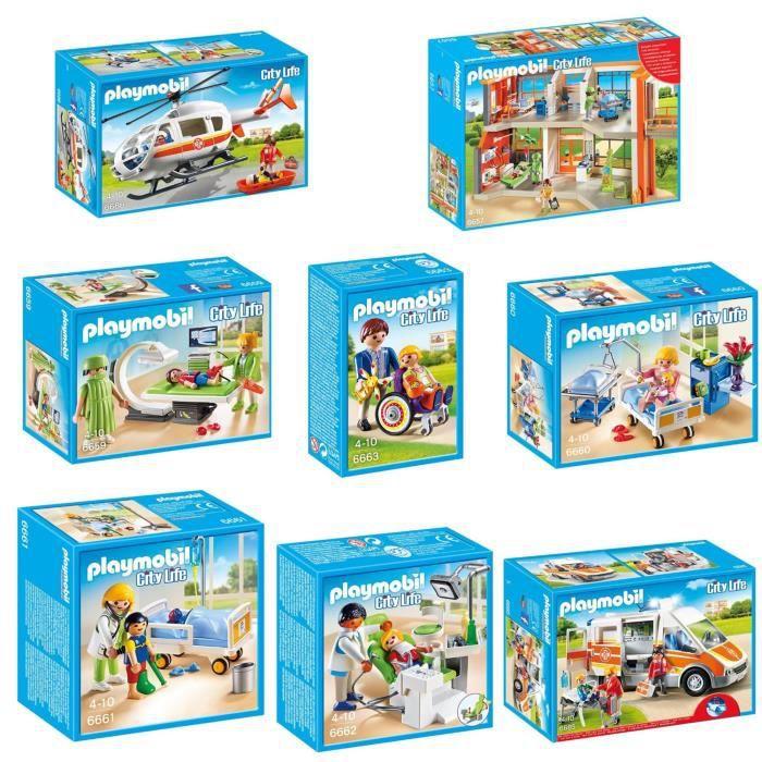 Playmobil pack l 39 h pital p diatrique complet achat vente univers miniature cdiscount - Toute les maison playmobil ...
