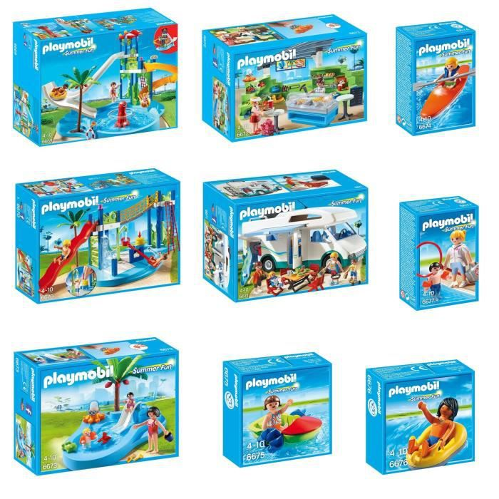 Playmobil Pack Le Parc Aquatique Complet  Achat  Vente Univers