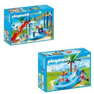 UNIVERS MINIATURE PLAYMOBIL Pack Le Parc Aquatique 3