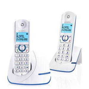 Téléphone fixe Alcatel F390 Duo Téléphone Sans Fil Sans Répondeur