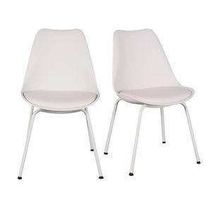 CHAISE FINLANDEK Lot de 2 chaises de salle à manger FUTÖ